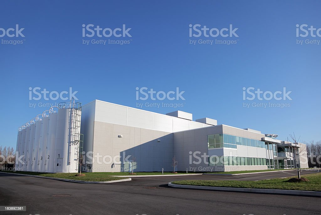 Large Manufacturing Plant stock photo