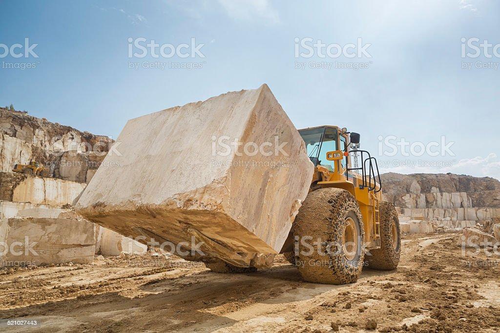 Large Marble Quarry stock photo