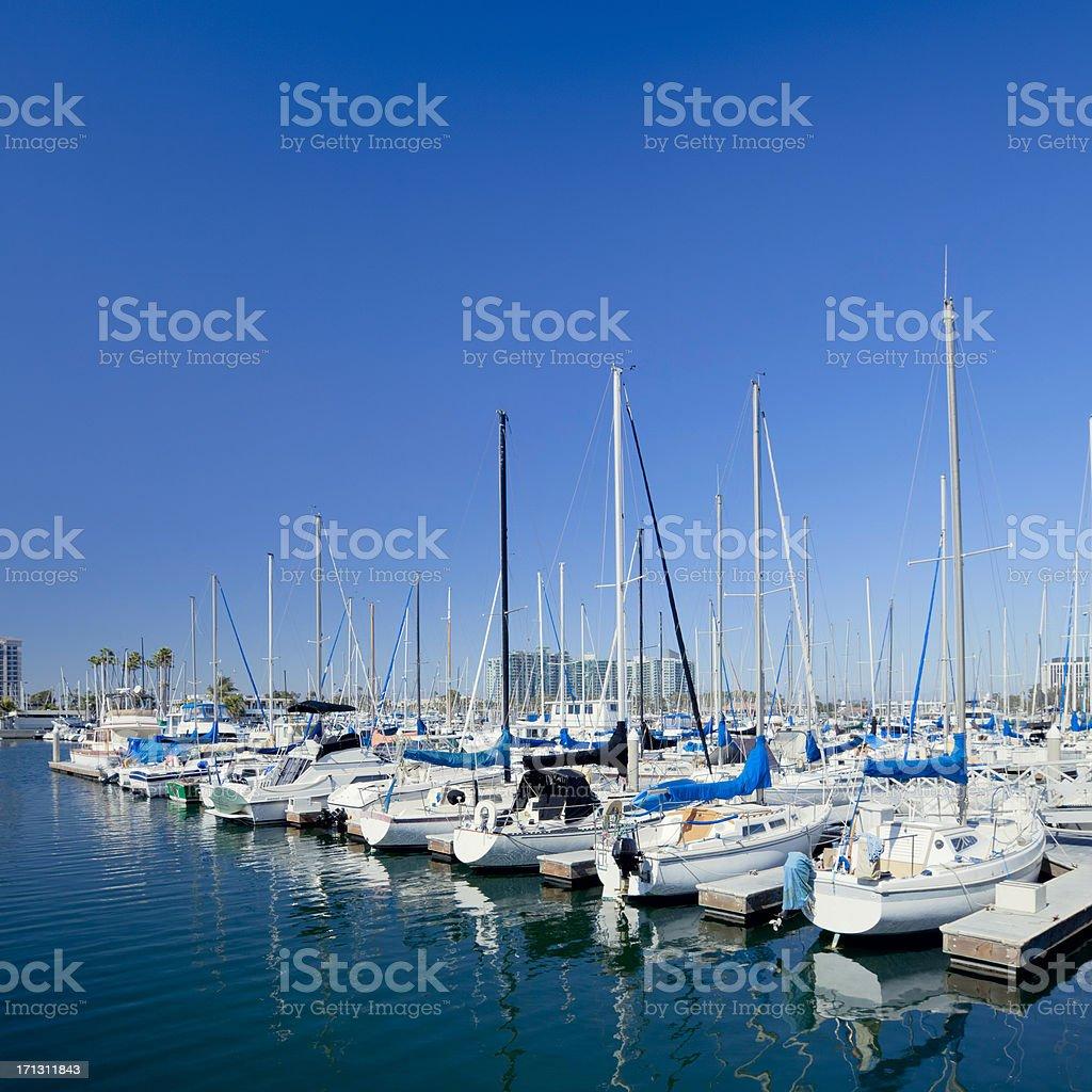 Large marina stock photo