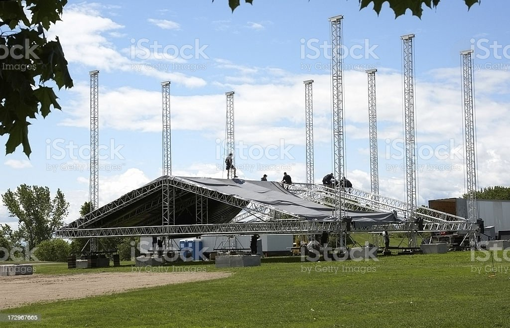 Large Marquee erection royalty-free stock photo