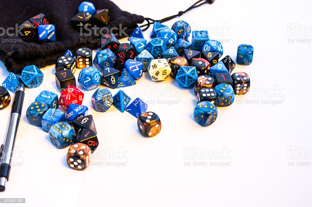 Large Mass of Dice stock photo
