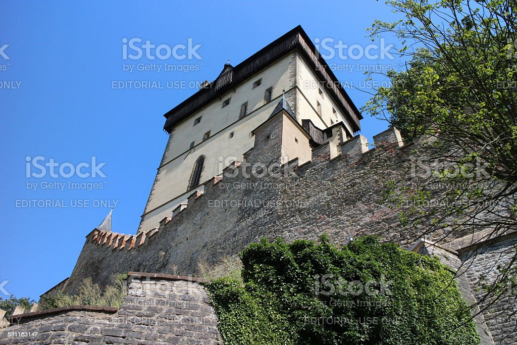 Large Medieval Castle stock photo