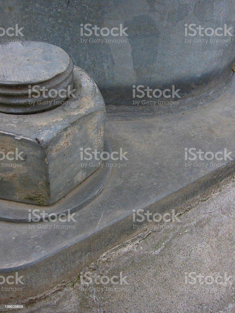 Large Metal Bolt Detail royalty-free stock photo