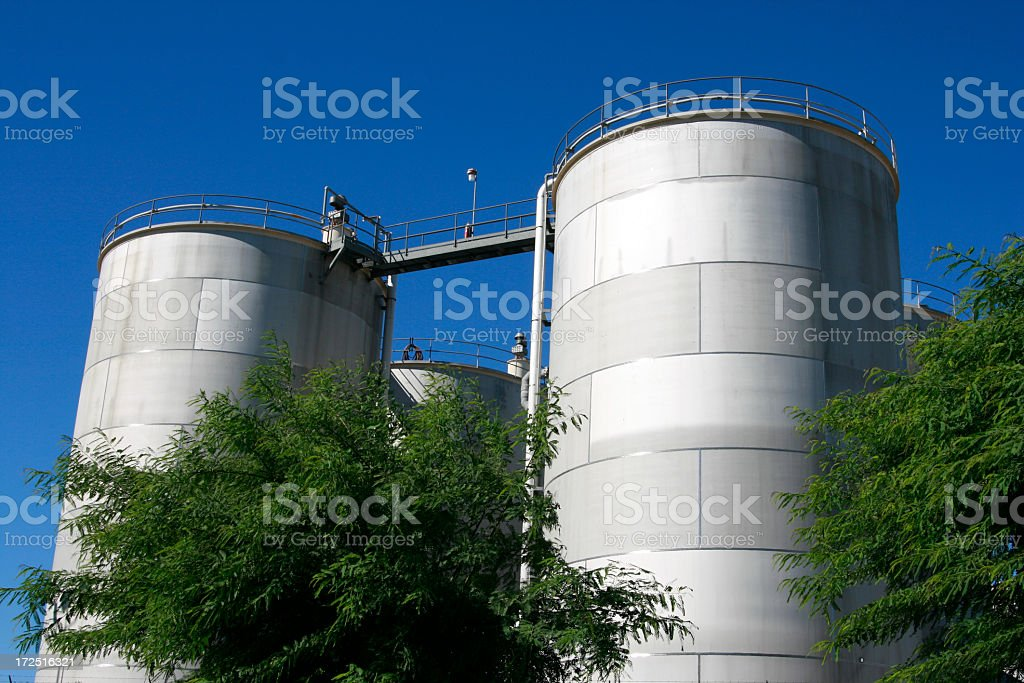 Large Metal Storage Containers royalty-free stock photo