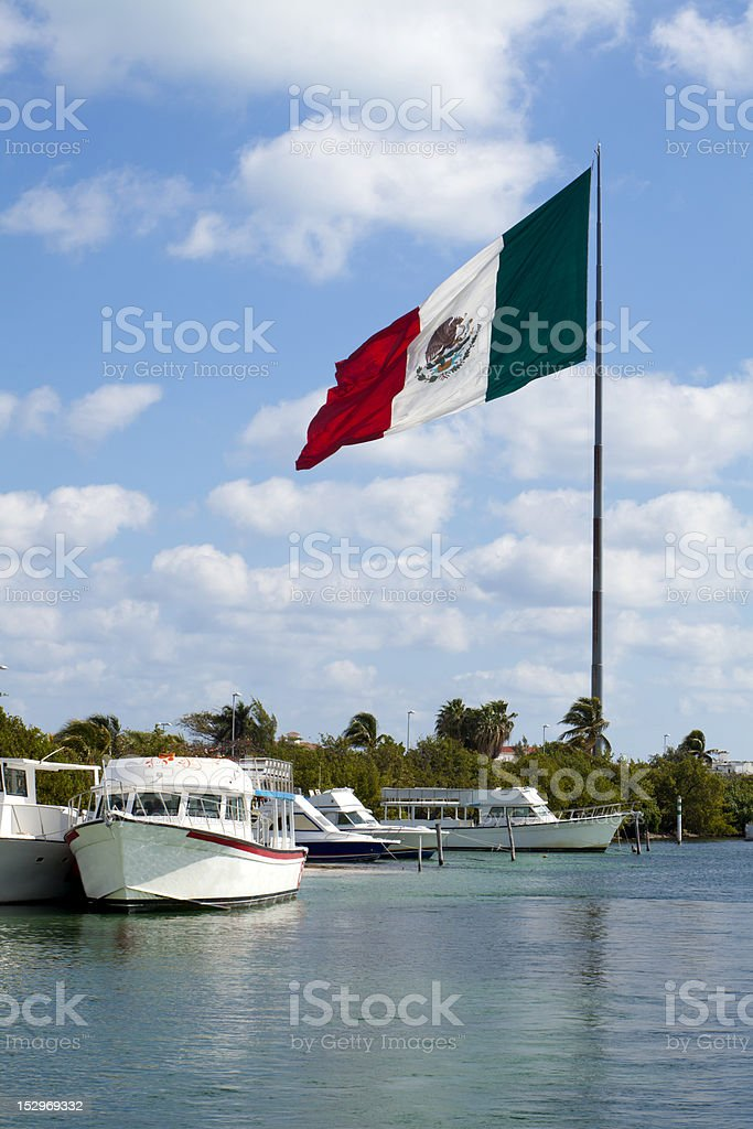 Large Mexico Flag royalty-free stock photo