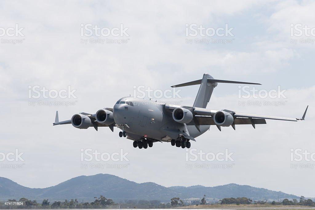 Grande Avião Militar de Transporte foto royalty-free