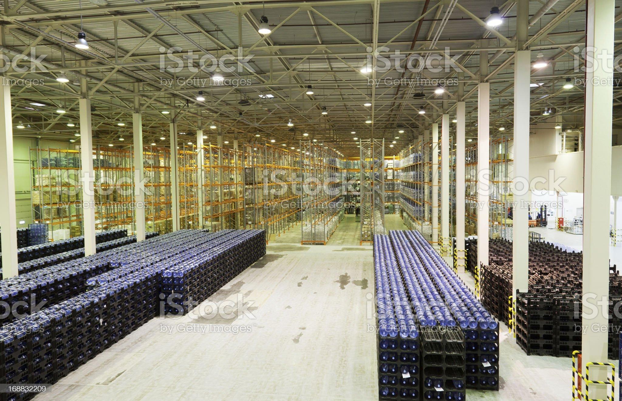 Large modern empty storehouse royalty-free stock photo