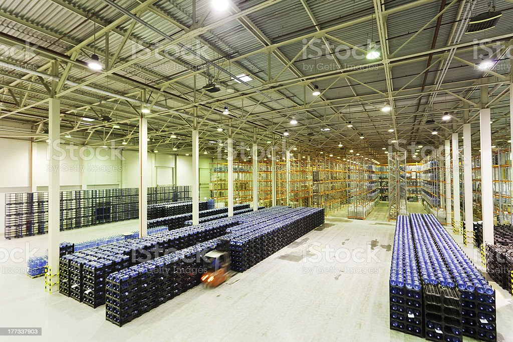 Large modern empty storehouse royalty-free stock photo