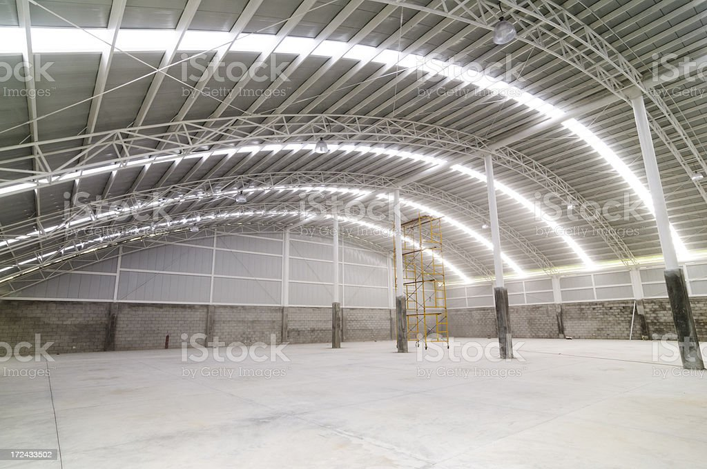 Large modern empty warehouse royalty-free stock photo