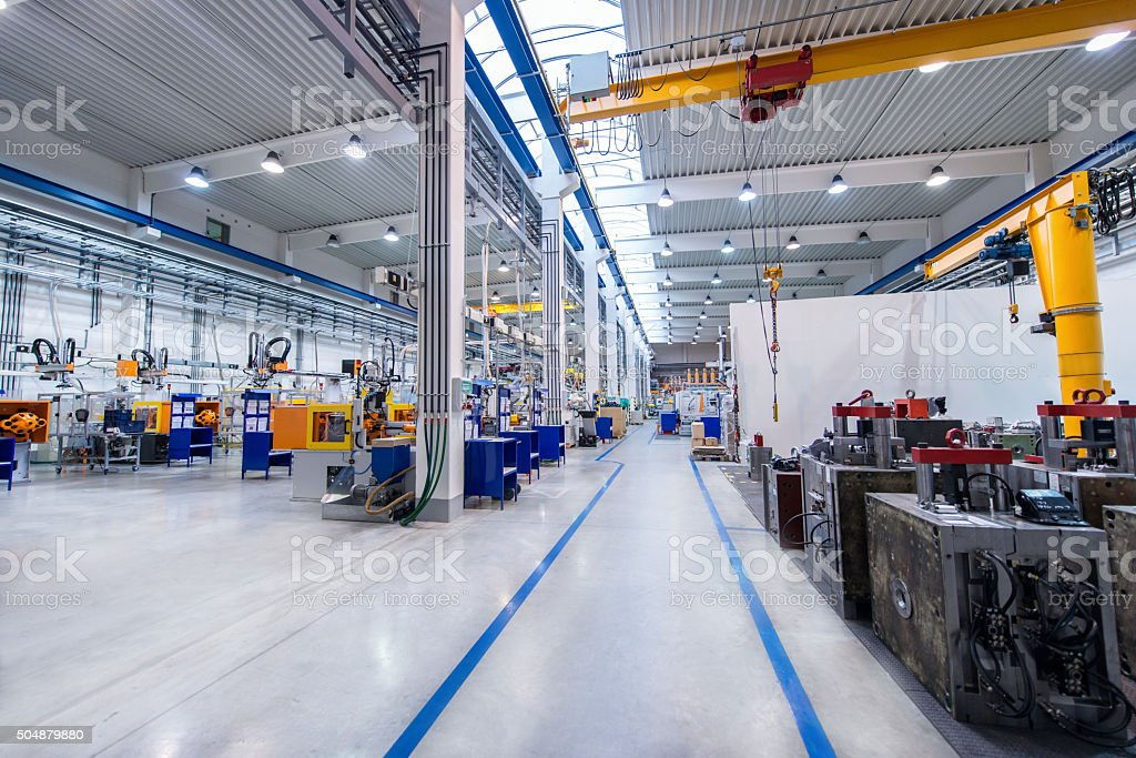 Large modern factory stock photo
