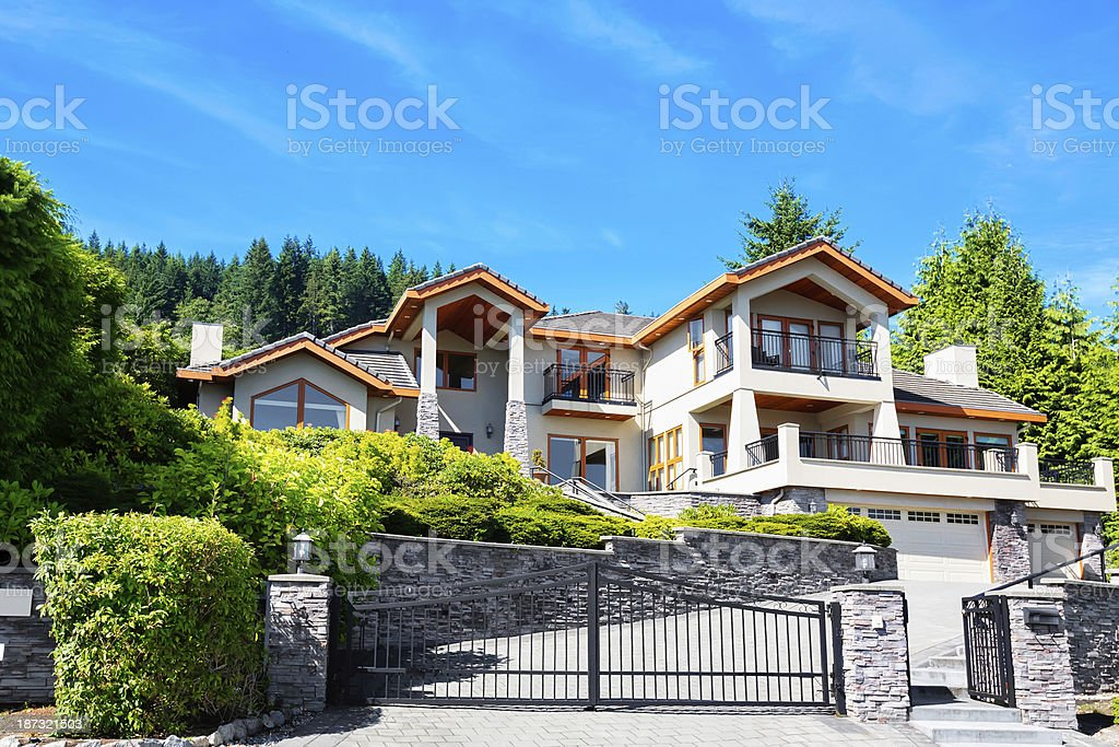 Large modern home in an expensive subdivision royalty-free stock photo