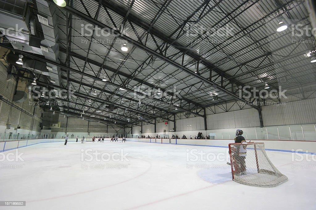 Large Modern Interior Hockey Arena stock photo