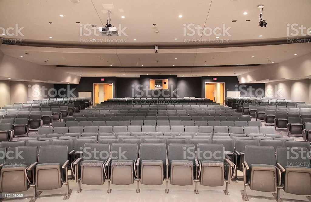Large Modern University Lecture Hall Seats royalty-free stock photo