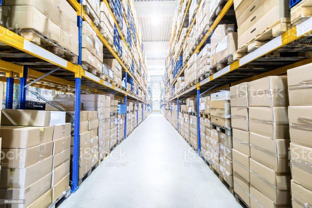 Large & modern warehouse stock photo