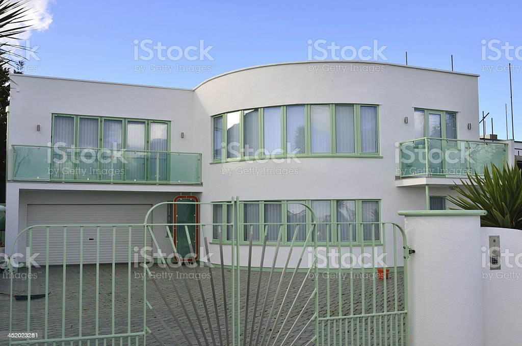 Large modernist House royalty-free stock photo