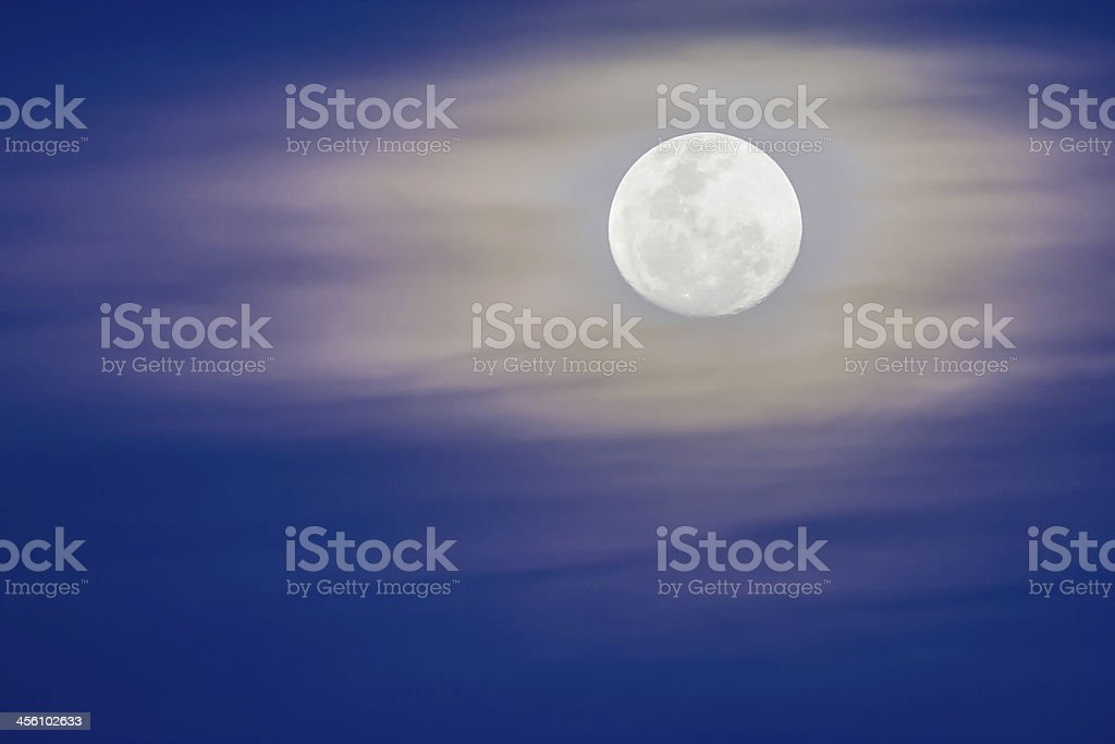 Large moon rise in the evening royalty-free stock photo