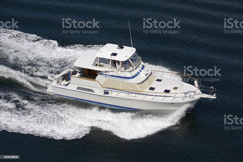 Large Motor Boat stock photo