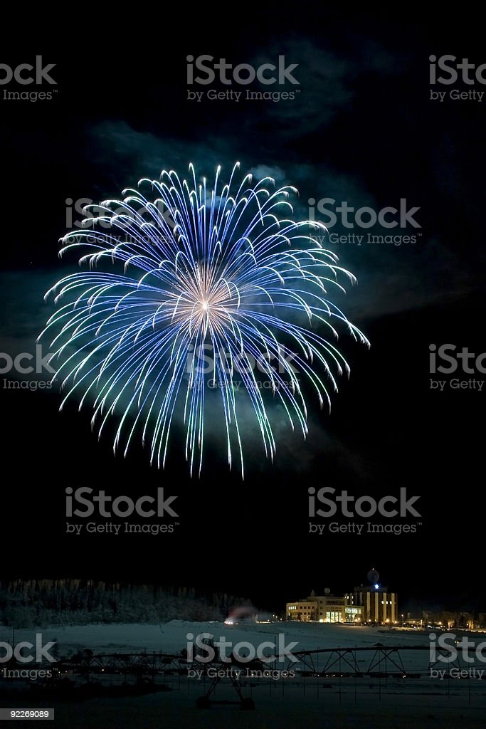 Large multicolored fireball royalty-free stock photo