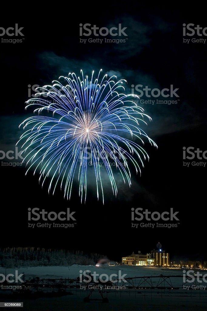 Large multicolored fireball stock photo