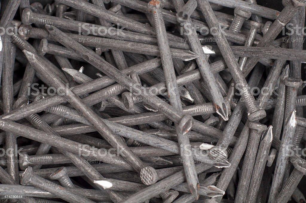 Large Nails stock photo
