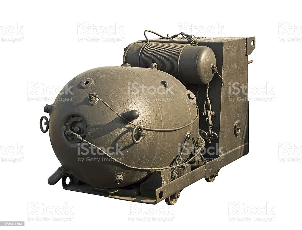 Large naval mine royalty-free stock photo