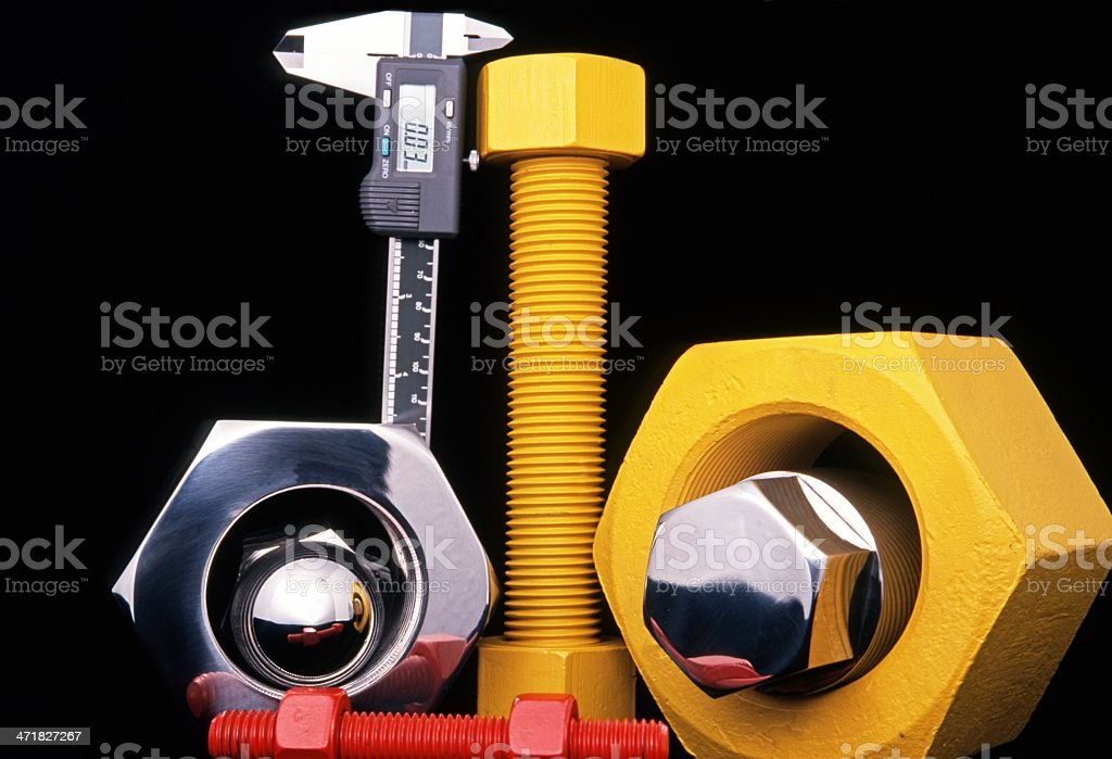 Large nuts and bolts, UK. royalty-free stock photo
