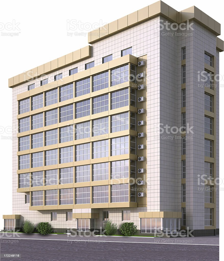 Large office building with glass windows royalty-free stock photo