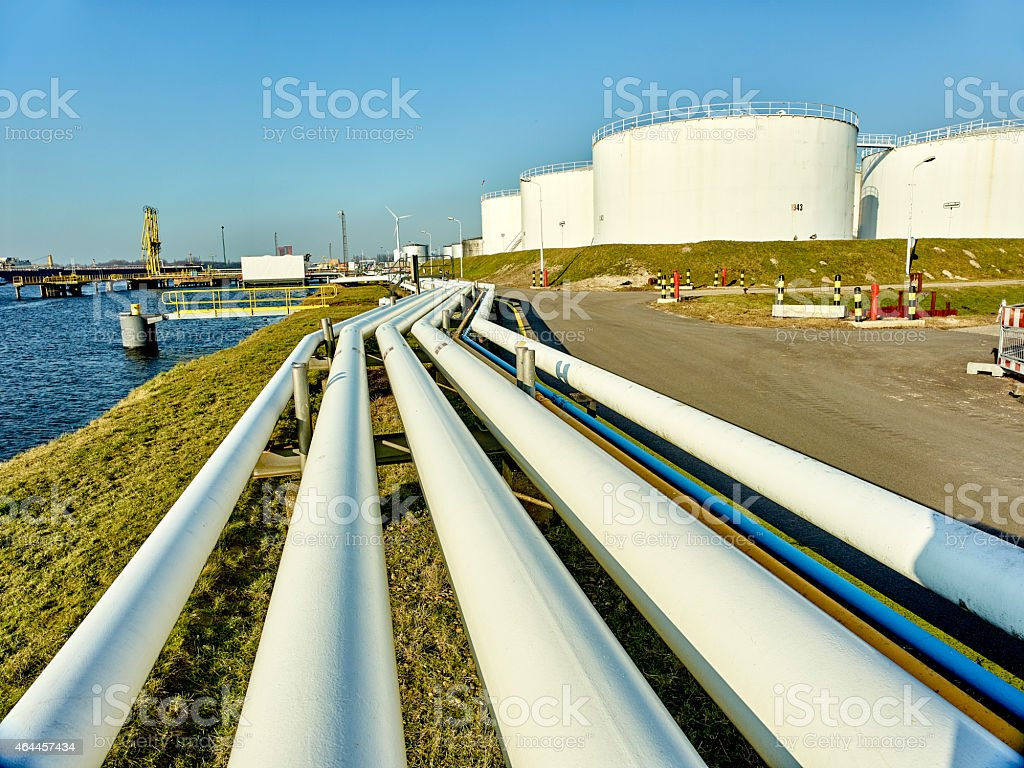 Large Oil Storage Tanks stock photo