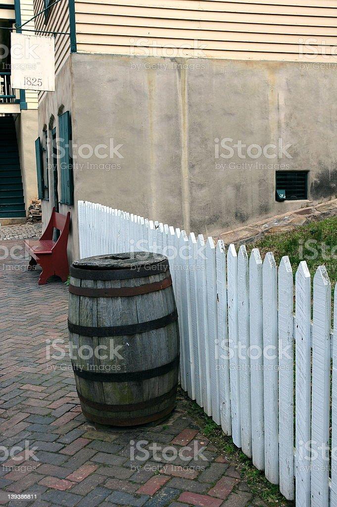 Large Old Barrel royalty-free stock photo