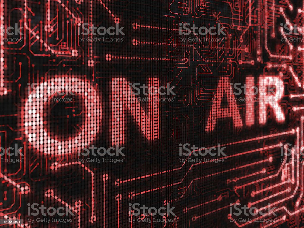 A large on air warning in big letters vector art illustration