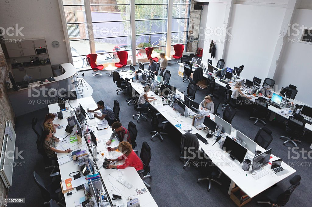 Large Open Space Office stock photo