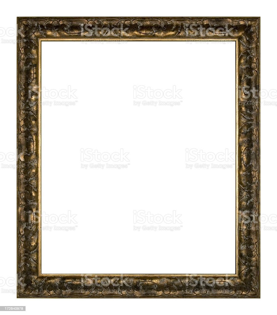 Large Ornate Picture Frame, Bronze royalty-free stock photo