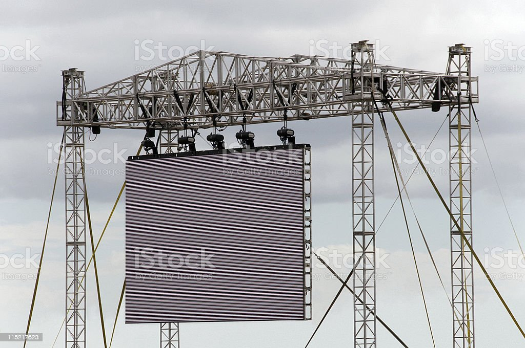Large Outdoor Screen stock photo