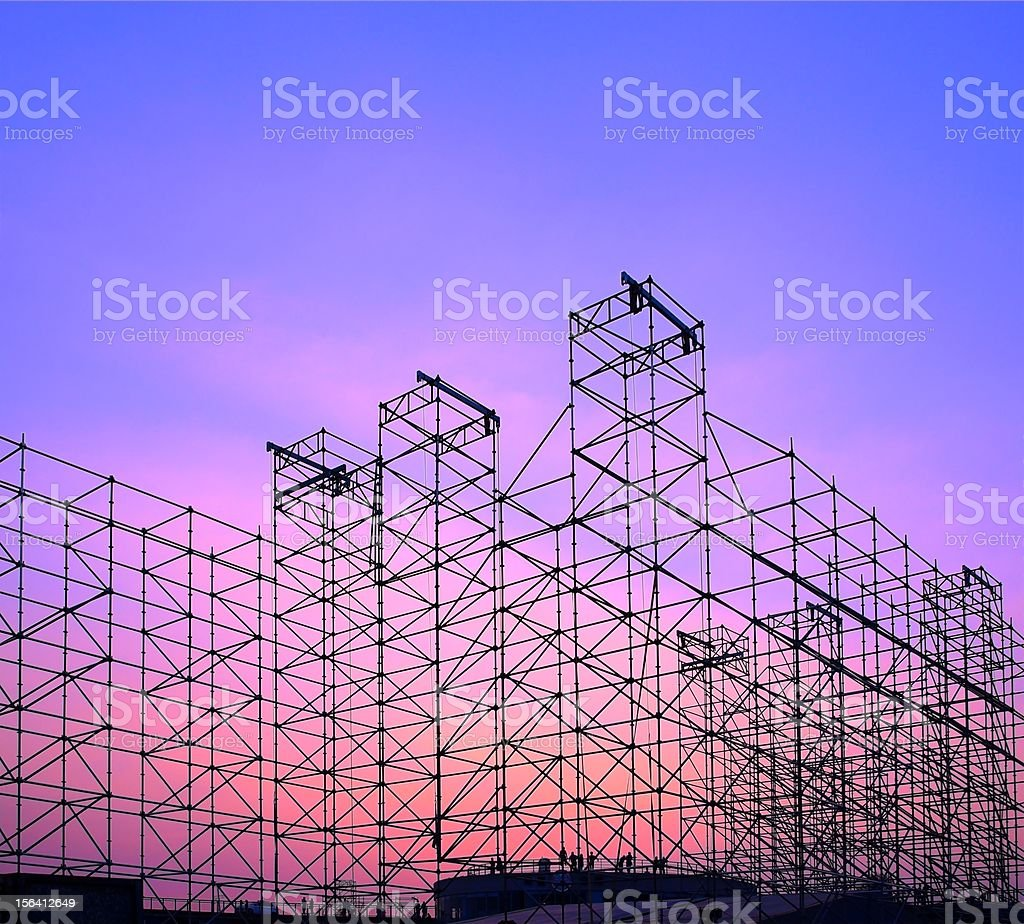 Large Outdor Stage Construction stock photo