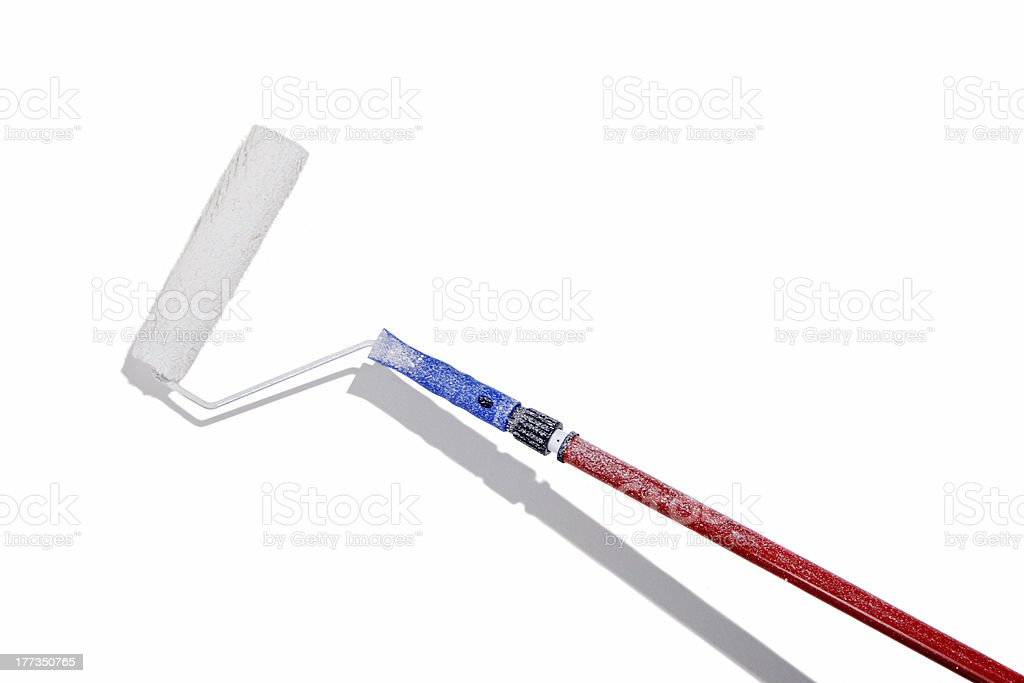 Large paint roller and extensor royalty-free stock photo