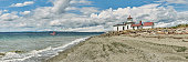 Large Panorama of Discovery Park Lighthouse with boat, Seattle