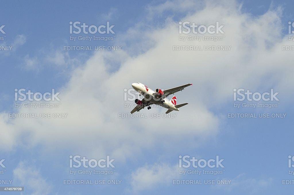 Czech airlines samolotu pasażerskiego dużych zbiór zdjęć royalty-free