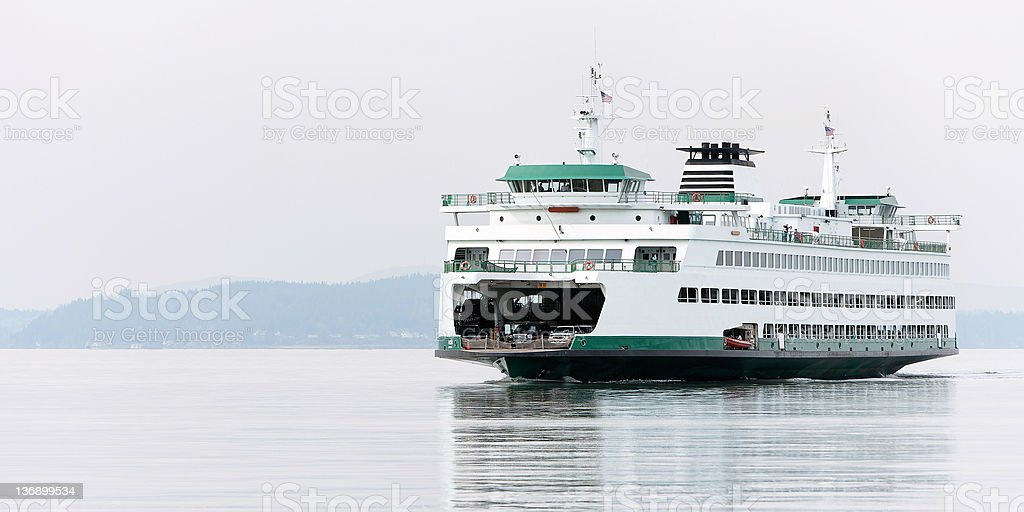 large passenger ferry stock photo