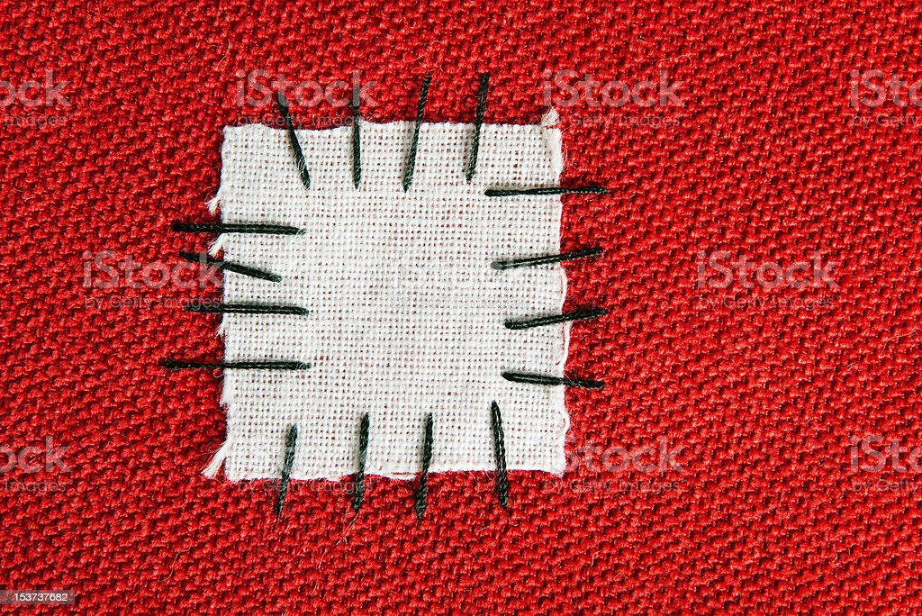 Large patch on cloth - background royalty-free stock photo