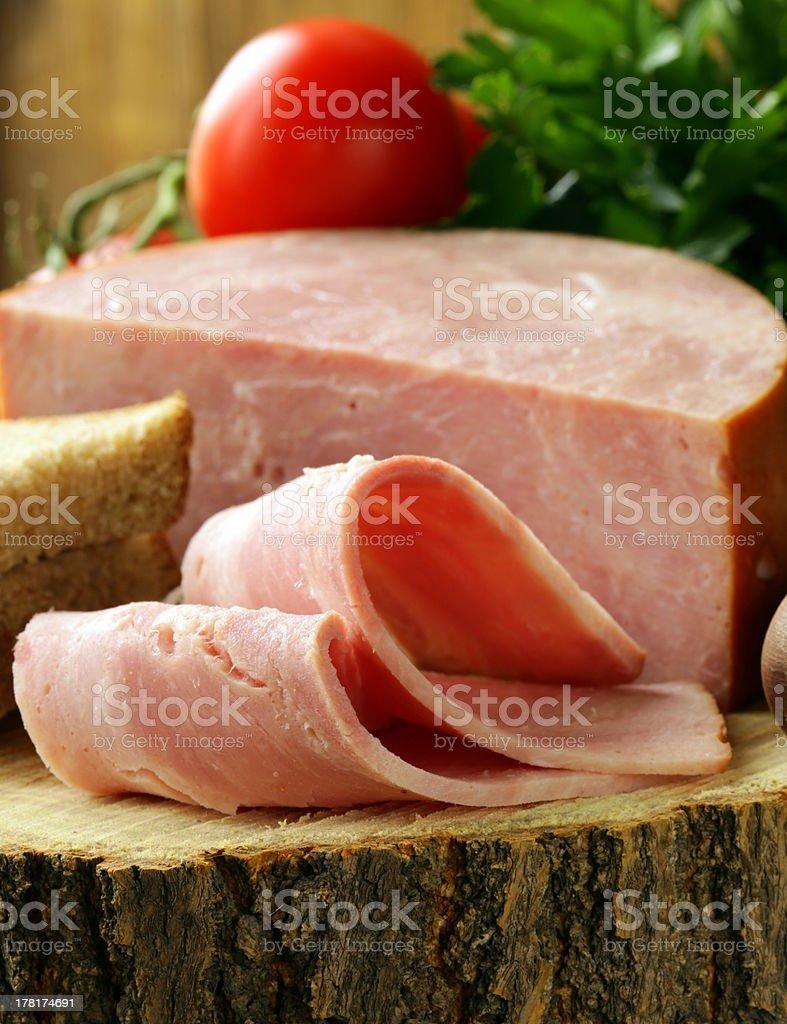 large piece of ham royalty-free stock photo