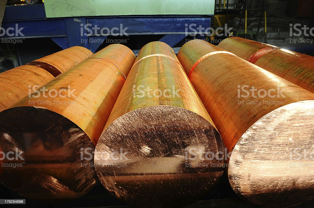 Large pieces of copper royalty-free stock photo