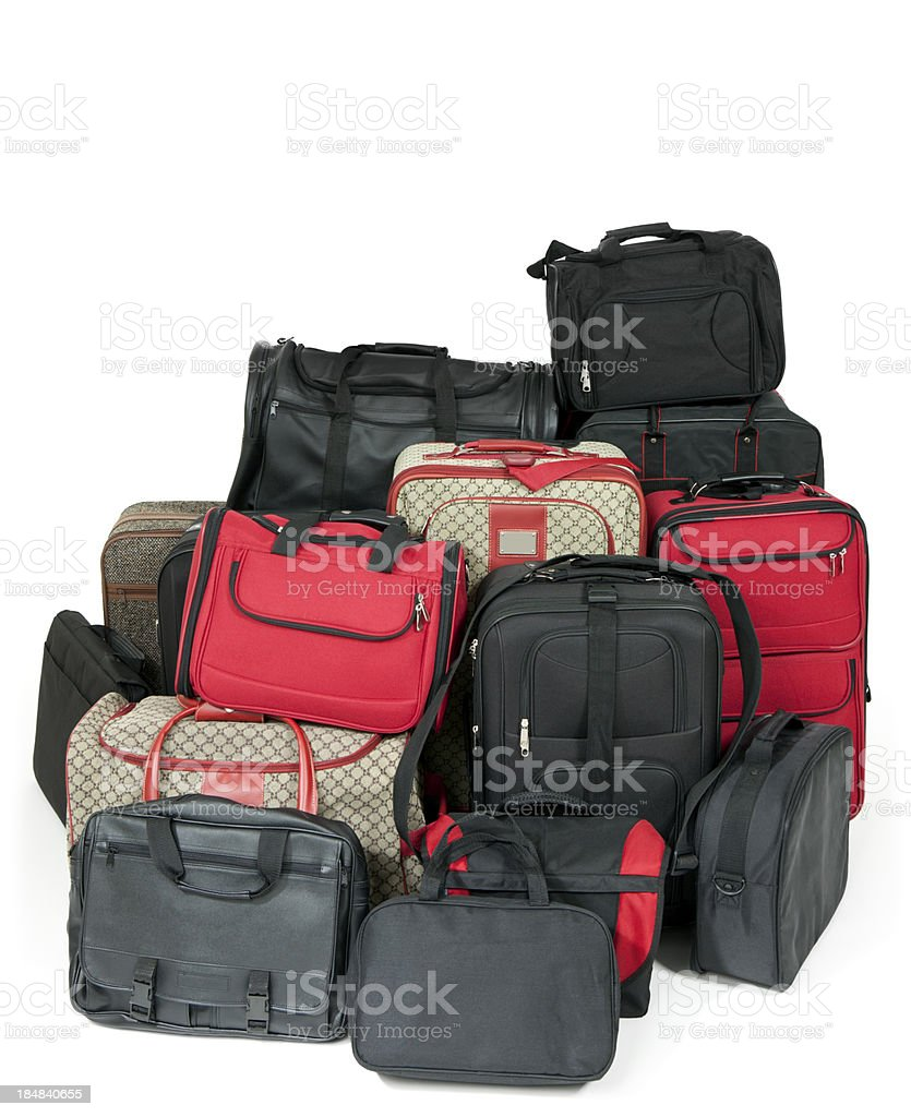Large Pile of Luggage royalty-free stock photo