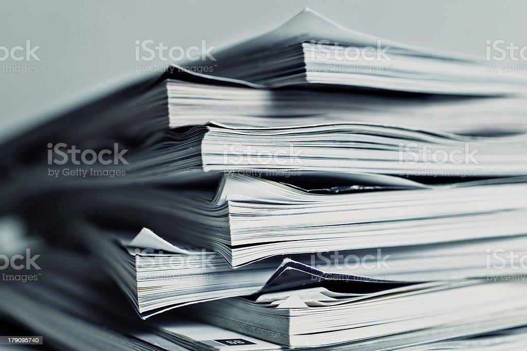 large pile of magazine royalty-free stock photo
