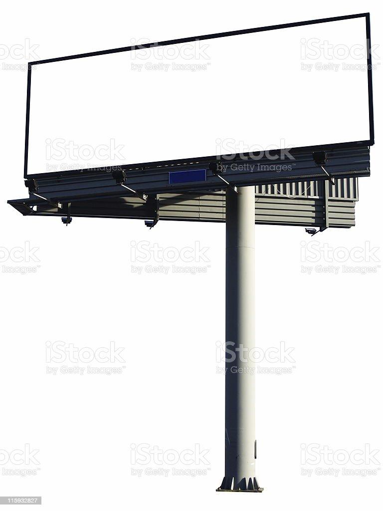 A large plain blank advertising billboard royalty-free stock photo