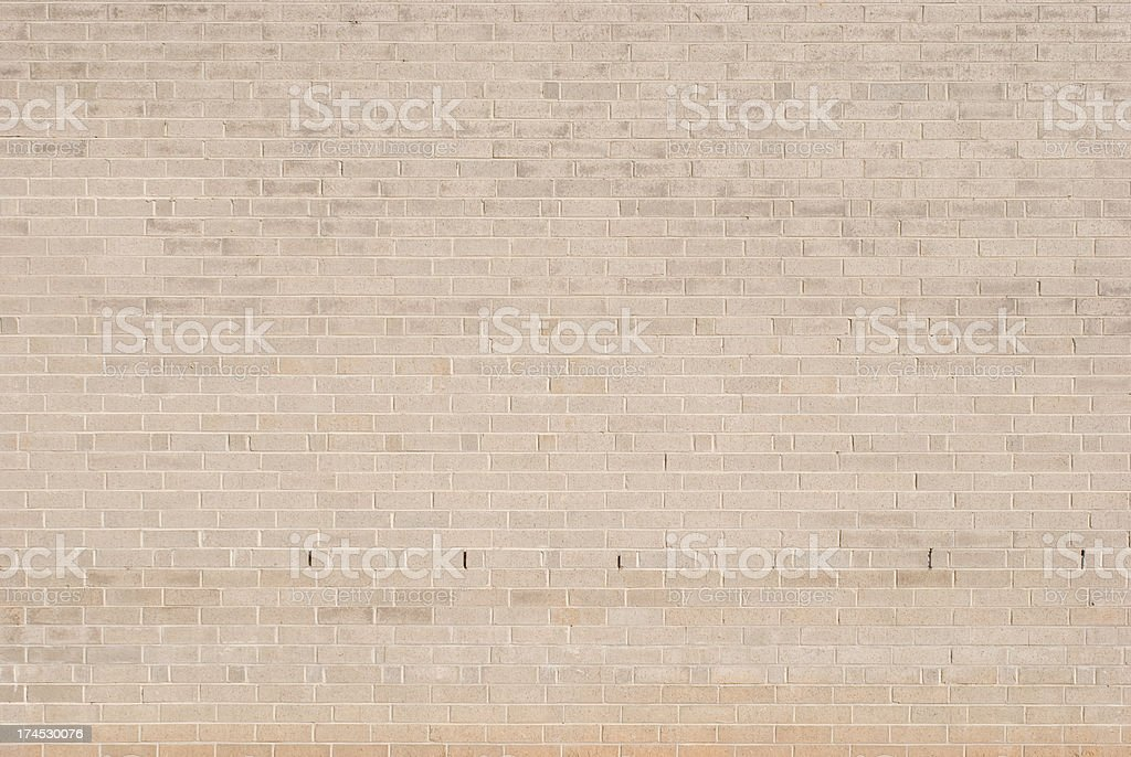 Large Plain Brick Wall, Tan / Pinkish In Color royalty-free stock photo