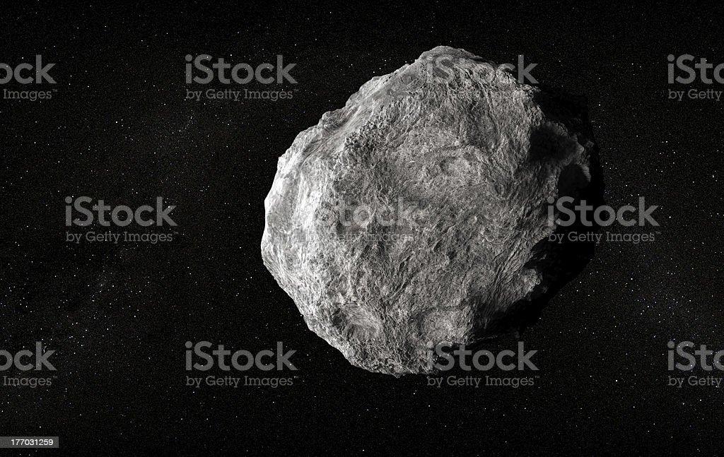 Large planetoid stock photo