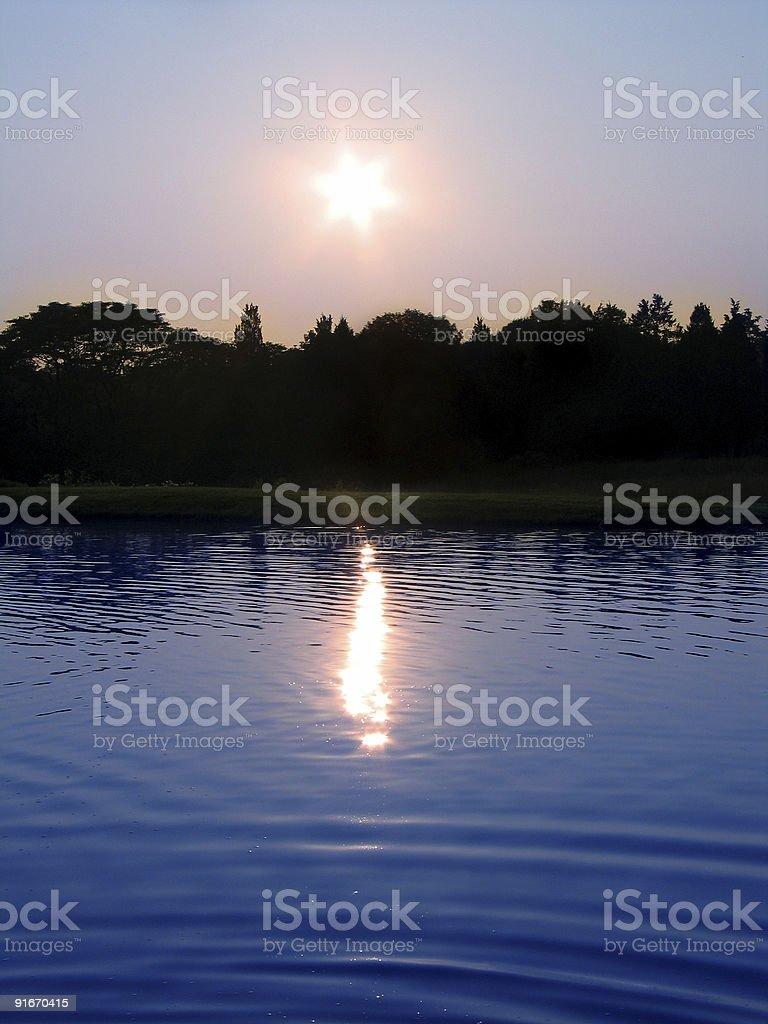 Large Pond royalty-free stock photo