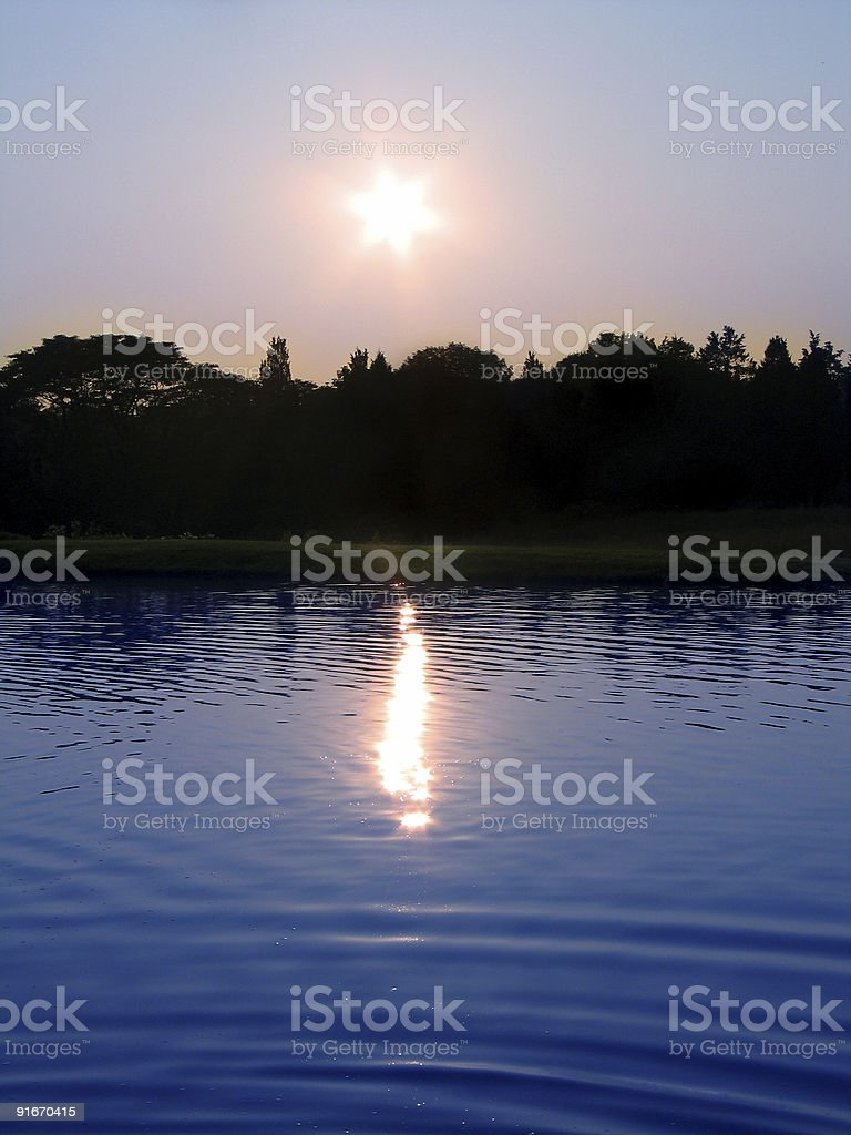 Large Pond stock photo