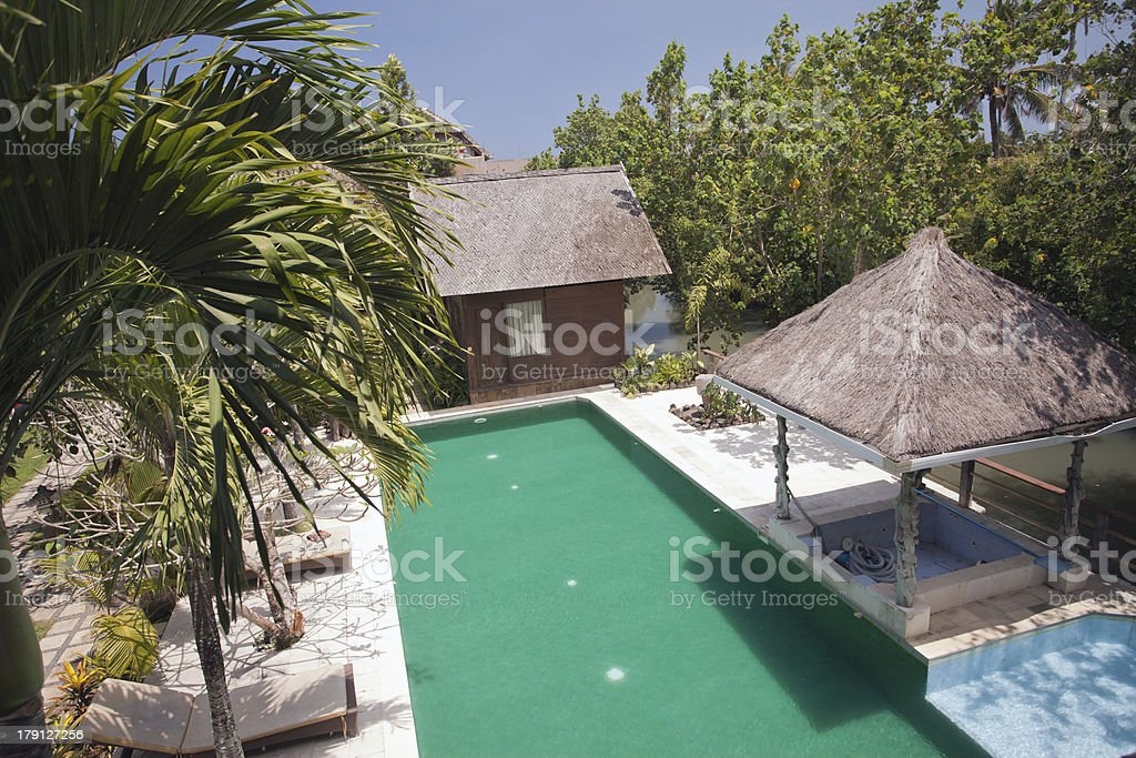 Large pool outside royalty-free stock photo