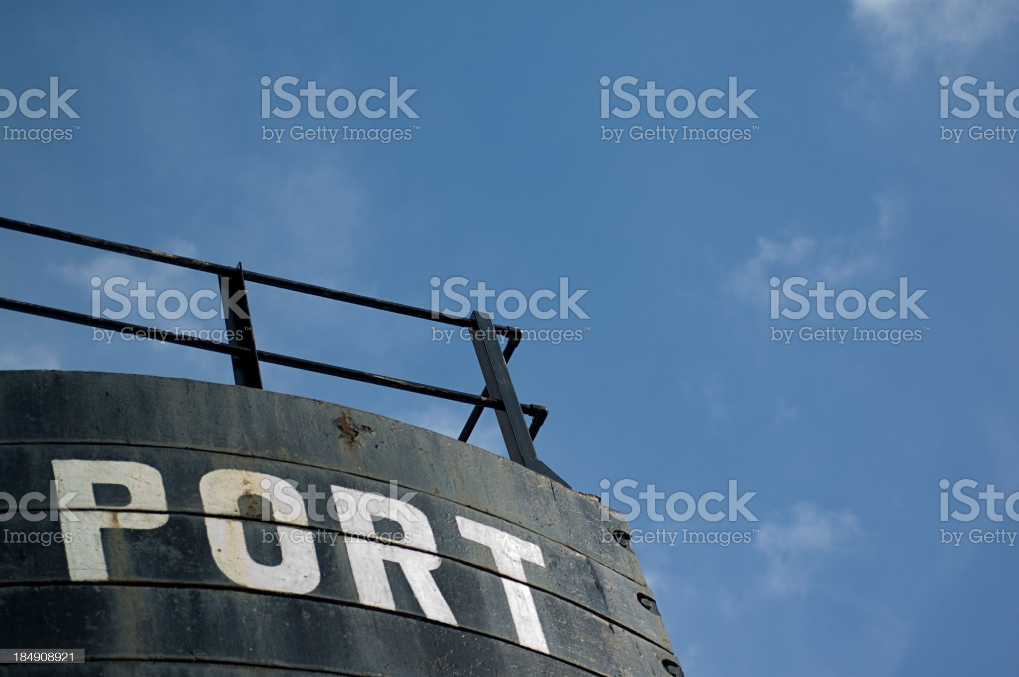 Large Port Sign royalty-free stock photo